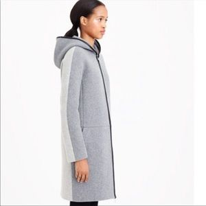 J. Crew stadium cloth hooded zip coat 6